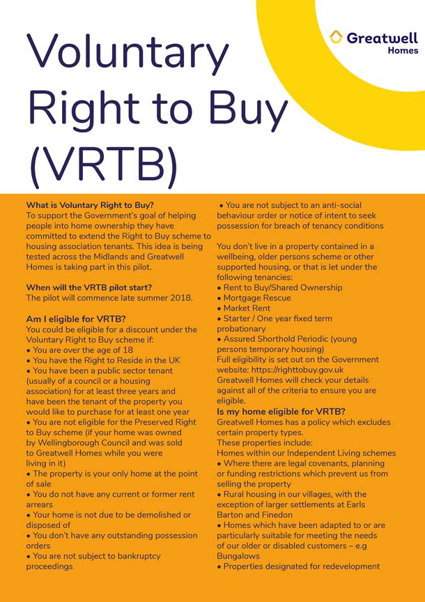 Voluntary Right to Buy Leaflet